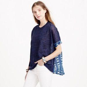 J. Crew Combo Sweater Faded Adire Tie-Dye Batik XS